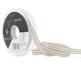3 M tape 10 mm silver grey gingham 18