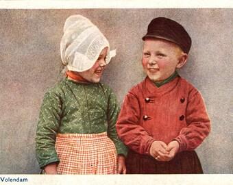Vintage Postcard. Netherlands. Holland, Jong Volendam. D.B.M 74