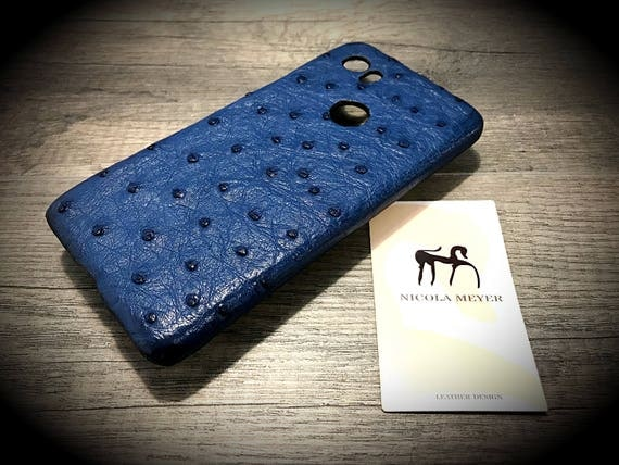 Google Pixel rev 2 and 1 and XL Genuine OSTRICH Leather Case for iPhone X 8 7 6s Galaxy S8 Note 8 color to Choose