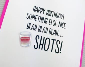 Birthday Shots card
