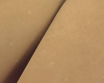 "Pre-cut Rustic Sandstone Leather Oil Tan Cow Hide 4""x 6"" 5-6 ounces smooth DE-57957 (Sec. 7,Shelf 6,A, Box 2)"
