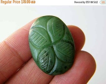 80% Sale Ruby Zoisite Carved Cabochon, (31x24x7MM) Ruby In Zoisite Flower Carved Cabochon, 52Ct. Flower Carved Designer Cabochon S-19759