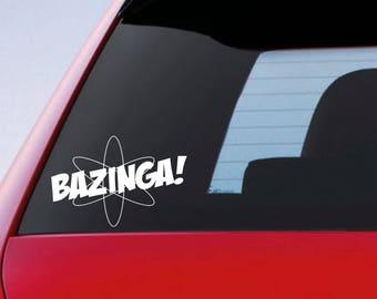 Bazinga Car Window Bumper Sticker Funny Vinyl Decal