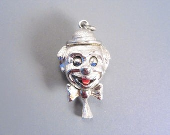 Vintage Monet Clown Charm Pull Down Moveable