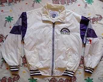Vintage 90's Colorado Rockies Pro Player windbreaker Jacket, size Large MLB Genuine Merchandise