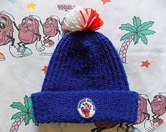 Vintage 70's Denver Broncos roll up Pom Beanie/Face Mask, Adult Size by Eski Cap NFL