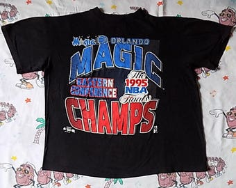 Vintage 90's Orlando Magic Eastern Conference Champs T shirt, size L/XL 1995 NBA Finals
