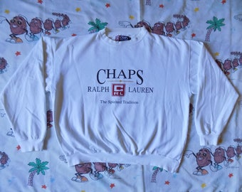 Vintage 90's Ralph Lauren Chaps pullover Sweatshirt, size Large spell out logo baggy