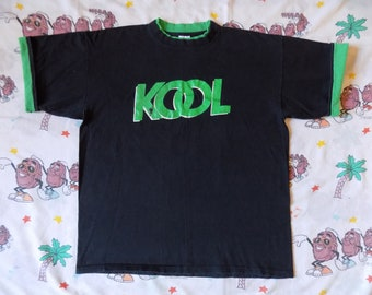 Vintage 90's KOOL Rolled Sleeve T shirt, size XL cigarettes smokes Promo