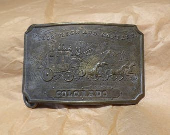 Belt Buckle, Antique Buckle, Wells Fargo Colorado, Wild West Railway Salvage