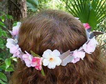 Pastel Butterfly Flower Crown