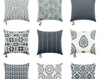 20% OFF SALE Decorative pillow, throw pillow, toss pillow, indigo pillow, blue pillow, euro sham 26 x 26, 27 x 27 ZIPPER Closure