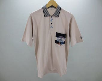 Lancel Shirt Vintage Lancel Paris Polo Shirt  Litt up hearts Men's Size S Made In Japan
