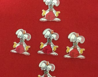 Set of 5 Roger Rabbit and Jessica Resin