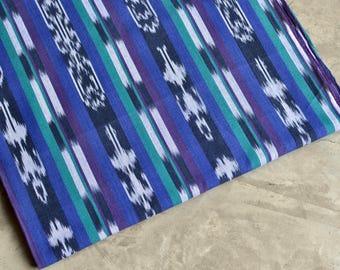 Striped Fabric (#63) - Tribal Fabric - Peruvian Fabric - 100%  Cotton - 1 yard