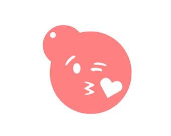 Blowing Kiss Emoji Cookies, Kiss Emoji Cookies, Kiss Emoji Stencil, Kiss Emoji Baking Stencil, Love Emoji Cookies, Emoji Cookies