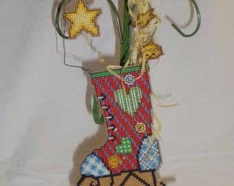 Cross Stitch Wire Whimsy Ice Skate Boot