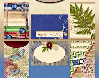 Digital Scrapbook, 4x6 Journaling Cards: Gotta Be Me