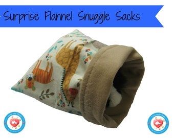 Snuggle Sack for Guinea Pig, Gerbil, Hamster, Hedgehogs, Bunnies | Cage Toy or Bedding | Bonding Bag, Cuddle Cup, Holding Sack, Free Ship