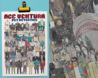 Ace Ventura Pet Detective Team Illustration