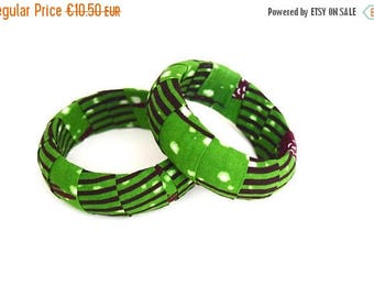 SUMMER SALE 2 Handmade African Fabric Bangles, Handmade Bangles, African Print Bangles, African Bracelets, Bracelets Africains, African Prin
