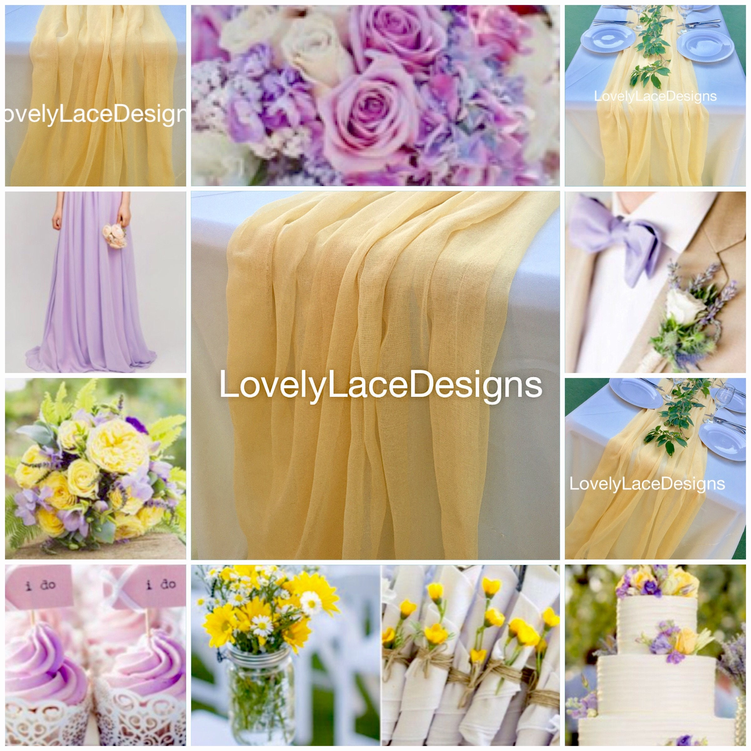 New yellowpale cheesecloth runners54wide wedding decortable new yellowpale cheesecloth runners54wide wedding decortable decoryellow wedding centerpiecerustic junglespirit Images