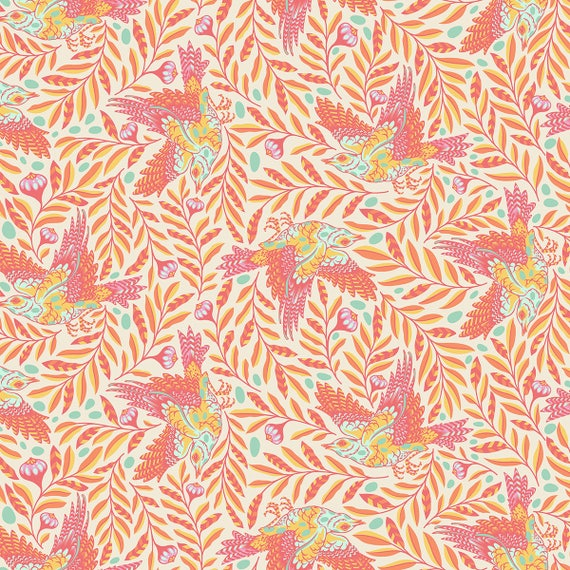 "FQ RE-TWEET Sun Kissed Spirit Animal PWTP099.Sunki Tula Pink Fat Quarter 18""x22"""