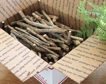 Box Full-Blueberry Wood Sticks /Mixed Size Crafting Sticks / Forked Sticks /Hardwood Crafting Sticks/ Fruit Wood Sticks / Branches
