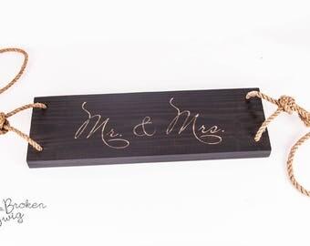 Mr & Mrs Wedding Swing