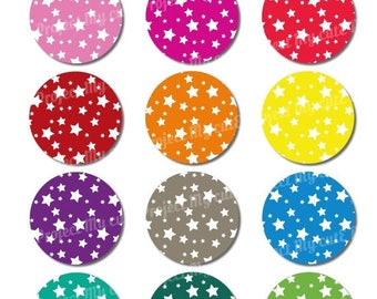 50% OFF CUPCAKE TOPPERS Rainbow Stars - Instant Download - Cake bunting - Party decoration