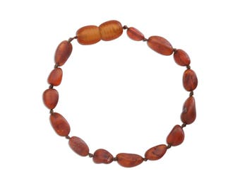 Genuine Baltic Amber Teething Bracelet (ATBU-Light Cherry)