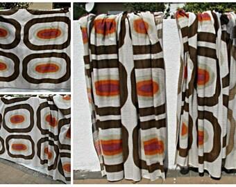 Dänische moderne Vorhang 1960er-70er Jahre. Retro, 70er Jahre Panton Stil Vorhänge, psychedelischen Vorhänge, pop-Design Vorhänge.