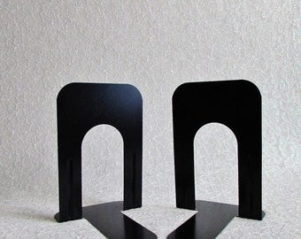 SALE Vintage Industrial Bookends Black