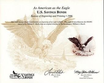 B210 Bureau of Engraving & Printing, Savings Bond Card