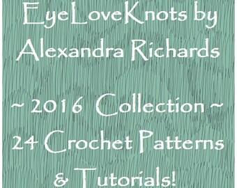 CROCHET PATTERN EBOOK - EyeLoveKnots 2016 Pattern Collection of 24 Crochet Patterns and Tutorials