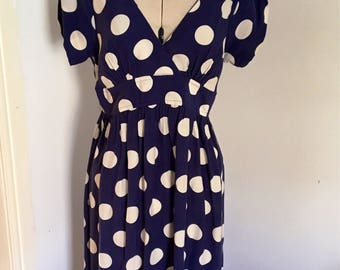 Vintage Tea Dress, Polka Dot Dress, 1950s look