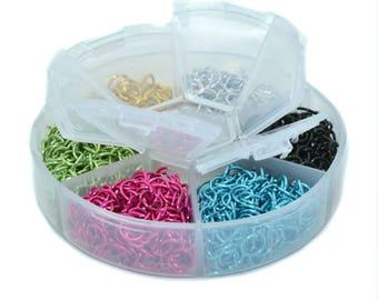 Box 1080 rings 6mm multicolored carousel