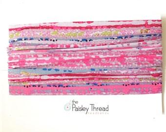 Pink Ikat Boho Headband