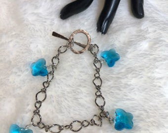 Plain Swarovski Crystal Linked Bracelet