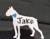 Boxer Car Decal, Boxer Dog Decal, Sticker,