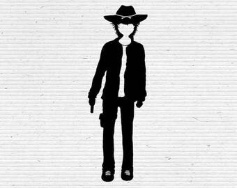 Carl Grimes The Walking Dead Silhouette SVG Cutting File, Printable, T-shirt Design, Scrapbooking Clipart