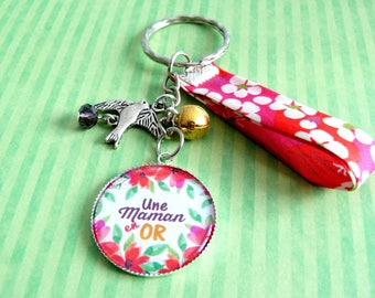 Key chain in gold MOM
