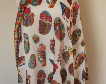 Owl Scarf, Butterfly, Cats, Dove Bird Print Scarf, Women Scarf, Owl Gifts, Gift for her, Animal Print, Printed Shawl, Cat print Scarf, Owls