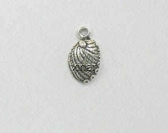 Sterling Silver 3-D Abalone Shell Charm