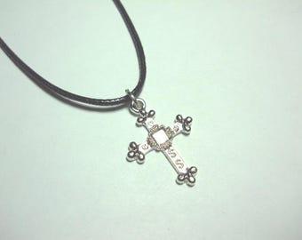 SALE - Antique Silver Cross Pendant, Antique Silver Tone, Men's Necklace, Women's Necklace