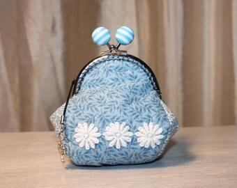 Purse RETRO daisies cotton