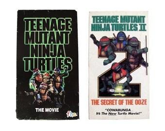 Teenage Mutant Ninja Turtles 1 & 2 VHS TMNT 90s Secret of the Ooze