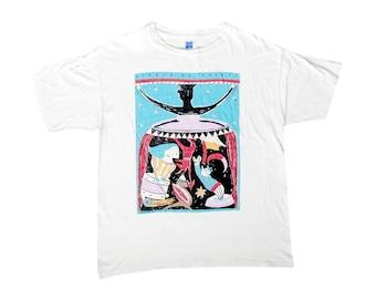 Vintage Cirque Du Soleil White T-Shirt X-Large 90s Ballet Circus Canadian Theater