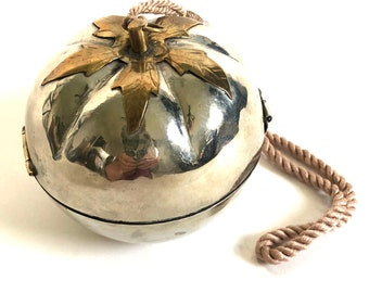 Vintage Asian Pear-Shaped Wristlet Handbag