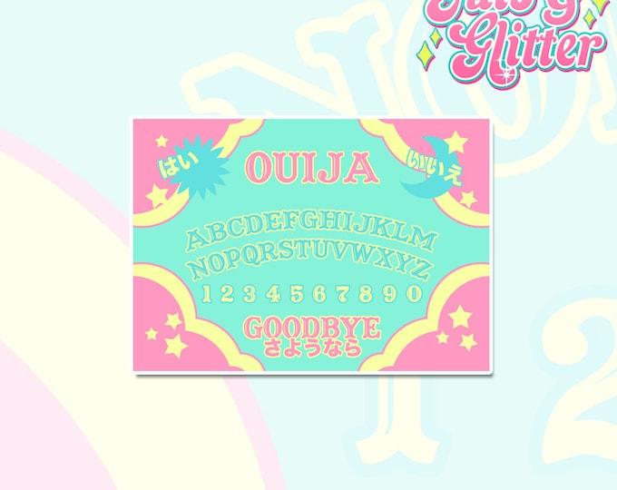 Kawaii Ouija Board Holographic Sticker